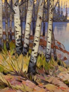 """Stagg River Birch Grove,"" by Graeme Shaw 18 x 24 - oil $1510 Unframed"