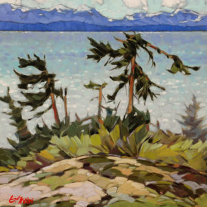 """View Towards Lasqueti Island,"" by Graeme Shaw 16 x 16 - oil $950 Unframed"