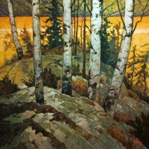 """""""Evening Gold,"""" by Graeme Shaw 48 x 48 - oil $6735 (thick canvas wrap)"""