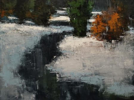 """Glace Noire,"" by Robert P. Roy (Black Ice) 36 x 48 - oil $3200 (thick canvas wrap)"