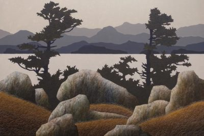 """Island View,"" by Ken Kirkby 40 x 60 - oil $6200 Unframed"