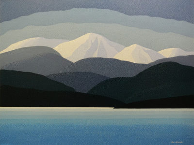 """Morning Coast, B.C."" by Peter McConville 30 x 40 - acrylic $4400 (thick canvas wrap)"