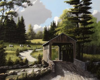 """""""Over the Creek,"""" by Bill Saunders 16 x 20 - acrylic $1900 Unframed"""