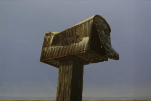 """""""Snail Mail,"""" by Glen Melville 24 x 36 - acrylic $2500 (thick canvas wrap)"""