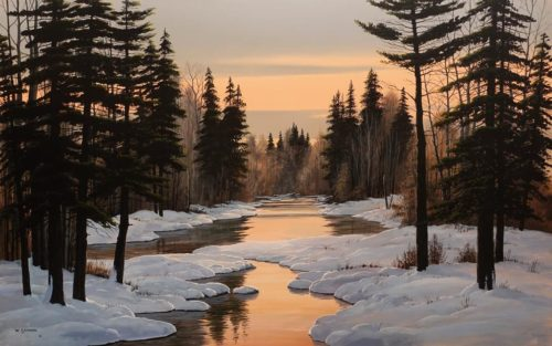 """Twilight Glow,"" by Bill Saunders 30 x 48 - acrylic $6600 Unframed"