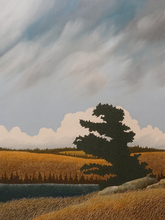 """Virga in the Afternoon,"" by Ken Kirkby 30 x 40 - oil $3600 Unframed"