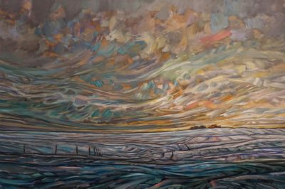 """Warming,"" by Steve Coffey 24 x 36 - oil $2640 Unframed"