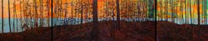 SOLD No. 2116 by Bob Kebic triptych - 24 x 120 (overall size) - oil $10,800 Unframed