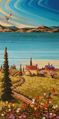 """""""Colours of Spring,"""" by Rod Charlesworth 18 x 36 - oil $2890 Unframed"""