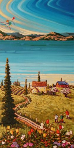 """Colours of Spring,"" by Rod Charlesworth 18 x 36 - oil $2890 Unframed"
