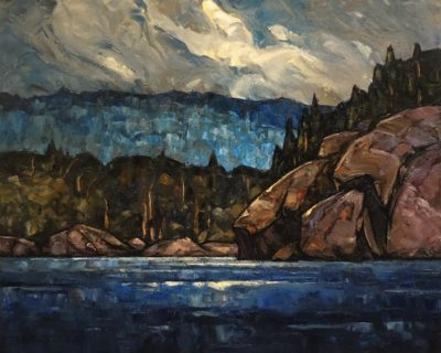 """SOLD """"Nocturnal Light,"""" by Phil Buytendorp 16 x 20 - oil $1625 Unframed"""