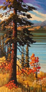 "SOLD ""September Hues, Okanagan,"" by Rod Charlesworth 18 x 36 - oil $2890 Unframed"