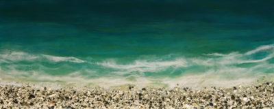 """West Coast No. 344,"" by Brenda Walker 16 x 40 - encaustic and mixed media $1600 (cradled panel)"