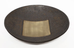 "Circle Square Bowl (LR-265) by Laurie Rolland hand-built ceramic - 12"" (W) x 2 1/2"" (H) $160"
