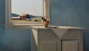 """SOLD """"August Noon,"""" by Keith Hiscock 24 x 42 - oil $7200 Unframed"""