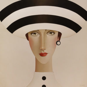 "SOLD ""Dior,"" by Danny McBride 36 x 36 - acrylic $4300 (thick canvas wrap)"