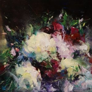 "SOLD ""New Morning,"" by William Liao 12 x 12 - oil $575 (unframed panel with 3/4"" edges)"