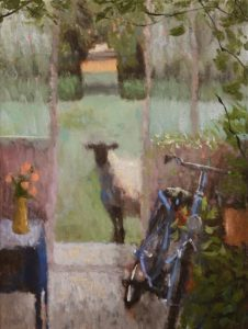 """Peeking,"" by Paul Healey 12 x 16 - oil $700 Unframed"