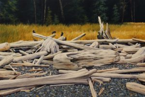 """Searching,"" by Merv Brandel 24 x 36 - oil $4925 (artwork continues onto edges of wide canvas wrap)"