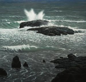 """Storm Surge,"" by Keith Hiscock 42 x 44 - oil $11,000 (thick canvas wrap)"