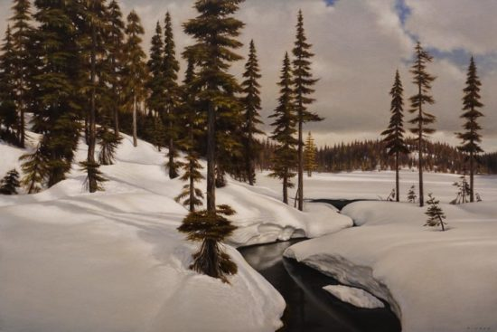 """""""April Thaw,"""" by Ray Ward 24 x 36 - oil $4125 Unframed"""