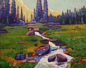 "SOLD ""Buena Vista Creek,"" by Nicholas Bott 11 x 14 - oil $1380 Unframed"
