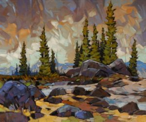"""Kananaskis Skies,"" by Graeme Shaw 20 x 24 - oil $1990 Unframed"