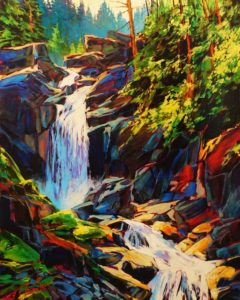 """More Falling H20,"" by David Langevin 24 x 30 - acrylic $2775 Unframed"