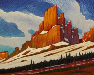 """Mount Cline,"" by Nicholas Bott 24 x 30 - oil $3860 (thick canvas wrap)"