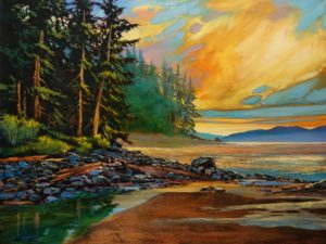 """SOLD """"Over 20 Already,"""" by David Langevin 30 x 40 - acrylic $4150 Unframed"""