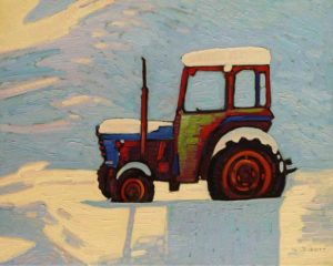"""Retired Tractor,"" by Nicholas Bott 16 x 20 - oil $2200 Unframed"