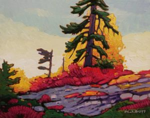 """Seymour Autumn,"" by Nicholas Bott 11 x 14 - oil $1380 Unframed"