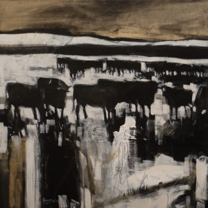 """""""Cattle Company I,"""" by Lee Caufield 24 x 24 - acrylic $1170 Unframed"""