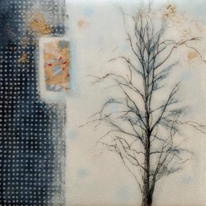 "SOLD ""Hush,"" by Nikol Haskova 6 x 6 - mixed media with high-gloss finish $380 (unframed panel with thick edges)"