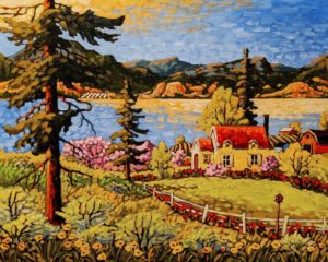 "SOLD ""The Light of a Late Spring,"" by Rod Charlesworth 24 x 30 - oil $2890 Unframed"