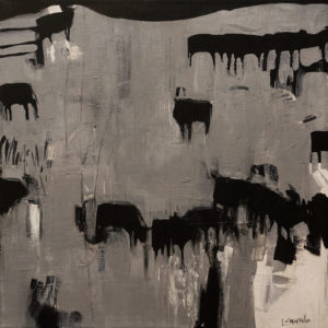 """Long Lake Angus,"" by Lee Caufield 18 x 18 - acrylic $980 Unframed"