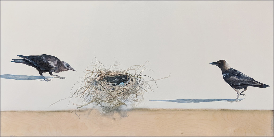 """""""Promise,"""" by Nikol Haskova 30 x 60 - acrylic $5200 (unframed panel with thick edges)"""