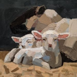 "SOLD ""Resting,"" by Paul Healey 12 x 12 - oil $600 Unframed"