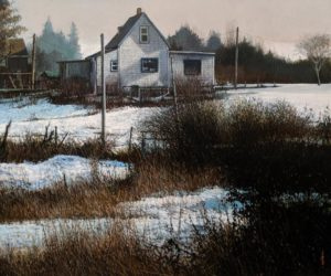 """Snowed In,"" by Alan Wylie 20 x 24 - oil $5435 Unframed"
