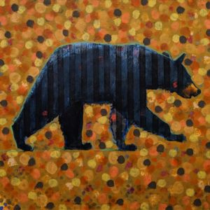 Bear (018-1558) by Les Thomas 36 x 36 - oil $8400 (thick canvas wrap)