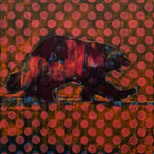 Wolverine (018-1561) by Les Thomas 24 x 24 - oil $3900 (thick canvas wrap)