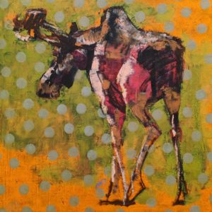 SOLD Moose (018-1564) by Les Thomas 24 x 24 - oil $3900