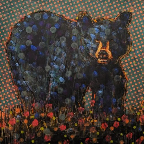 Bear (018-1575) by Les Thomas 36 x 36 - oil $8400 (thick canvas wrap)