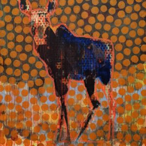 Moose (019-1720) by Les Thomas 24 x 24 - oil $3900 (thick canvas wrap)