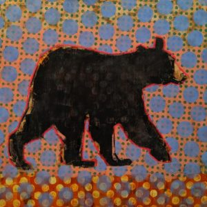 Bear (019-1726) by Les Thomas 36 x 36 - oil $8400 (thick canvas wrap)