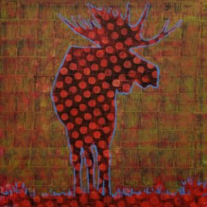 Moose (019-1728) by Les Thomas 36 x 36 - oil $8400 (thick canvas wrap)
