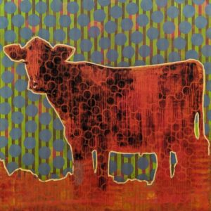 Cow (019-1733) by Les Thomas 48 x 48 - oil $12,000 (cradled panel)