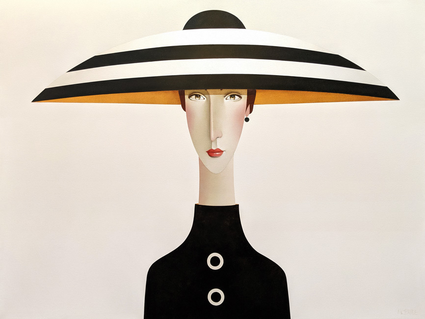 """Christiane,"" by Danny McBride 36 x 48 - acrylic $5700 (thick canvas wrap)"