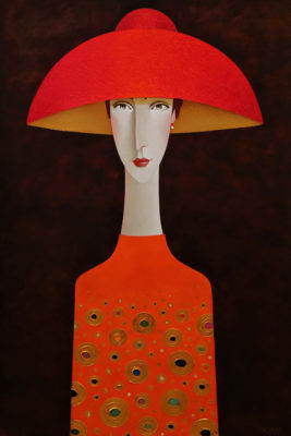 """Emmanuelle,"" by Danny McBride 24 x 36 - acrylic $3400 (thick canvas wrap)"