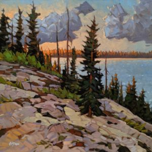 """Gentle Breeze Evening,"" by Graeme Shaw 20 x 20 - oil $1760 Unframed"